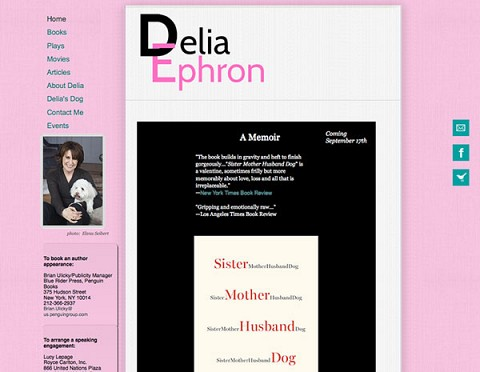 Delia Ephron website