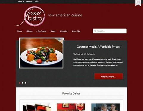 Feast Bistro website