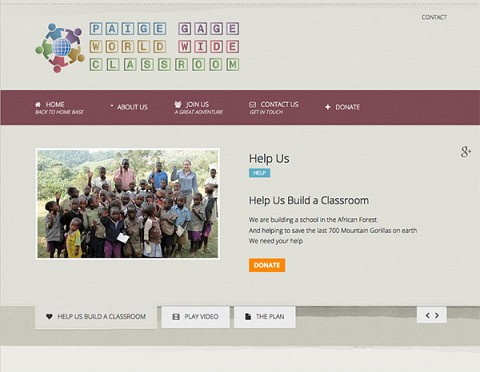 Paige Gage World Wide Classroom website