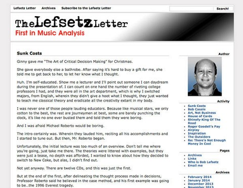 The Lefsetz Letter website