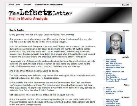 The Lefsetz Letter website