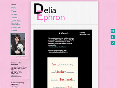 Delia Ephron website
