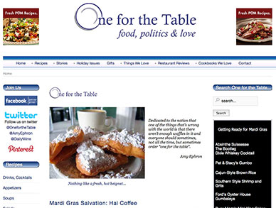 One for the Table website