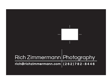 Rich Zimmermann Photography card