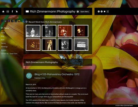 Rich Zimmermann Photography website
